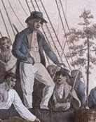 The mutineers turning Bligh and his crew from the 'Bounty'. PAH9205